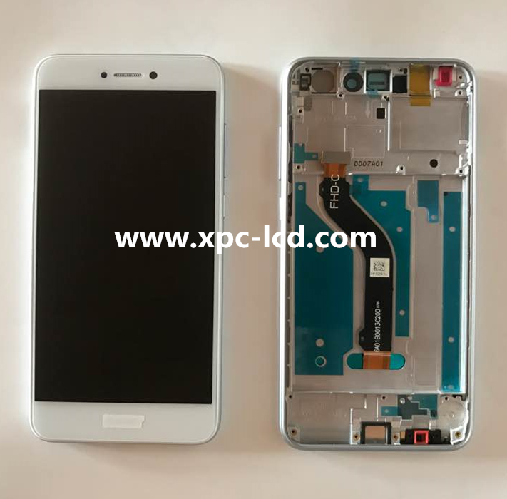 New Huawei P8 Lite 2017 P9 Lite 2017 LCD with touch screen with frame White